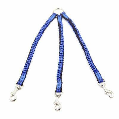 Dog Coupler Leash 3 Way Adjustable Multiple Walking Gear No Tangle Bungee Leash