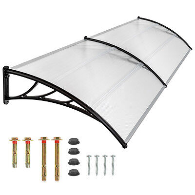 Front door canopy porch rain protector awning lean-to roof shelter 200x93 cm