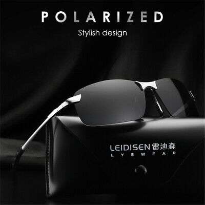 HD Polarized Sunglasses Mens Driving Aviator Glasses UV400 Outdoor Sport (Mens Aviator Sunglasses Polarized)