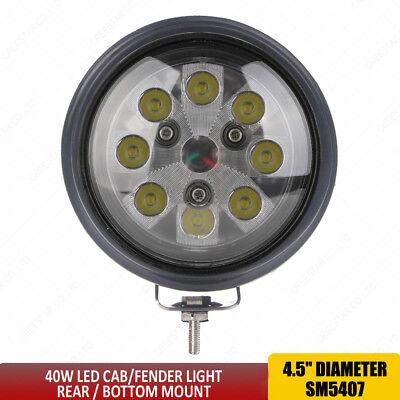 Round 40w Led Tractor Light Spot Beam W Rubber Bezel For John Deere Case Ih