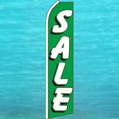 Sale Green Flutter Flag Tall Curved Advertising Wind Sign Feather Swooper Banner