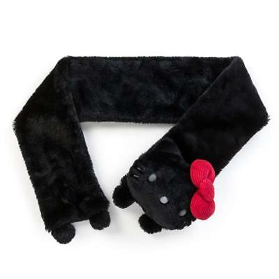 HELLO KITTY BLACK FLUFFY BOA SCARF FOR ADULTS SANRIO JAPAN FREE SHIPPING  (Hello Kitty For Adults)