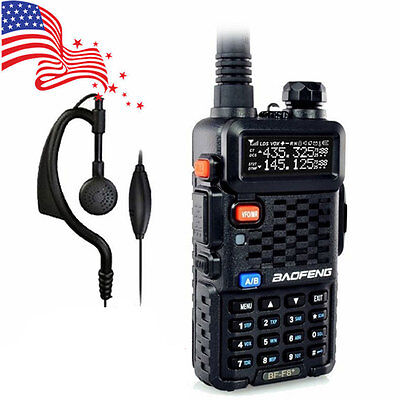 Baofeng BF-F8+ V/UHF 136-174/400-520MHz Two-way Ham FM Amateur Radio + Earpiece