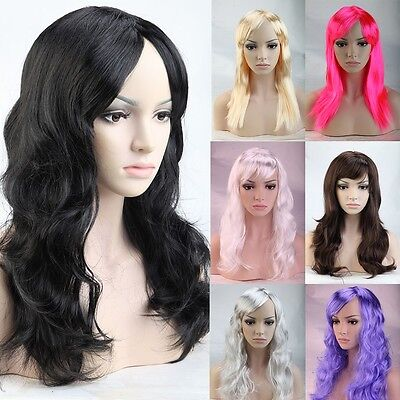 Costumes For Big Women (Big Deal Women Lady Wigs Full Head Wig For Costume Colors Black Blue Blonde)
