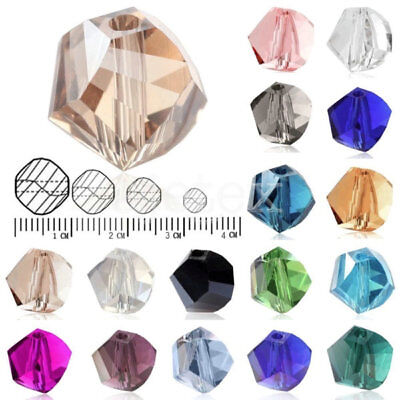 100Pcs Helix Crystal 6mm Glass Loose Spacer Beads DIY Fit Jewelry Making Glass Beads 6mm Crystal