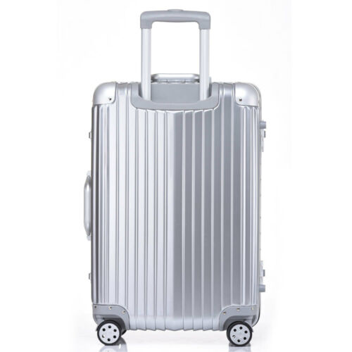 "20/24/28"" Luggage Travel Bag Trolley Box TSA Lock Aluminum PC HardShell Suitcase"
