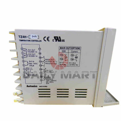 Autonics Temperature Controller Tz4h-24r Auto Relays 2 Alarm Outputs 100-240 Vac