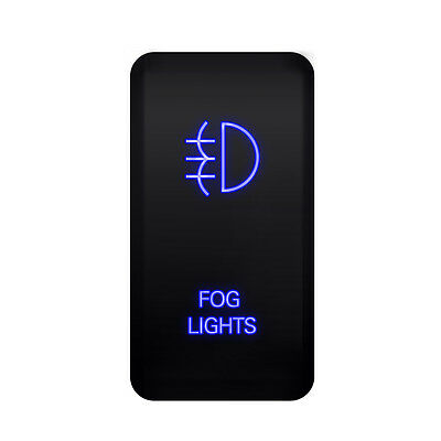 Blue LED Light Bar Rocker Switch Fog Push Button For Toyota Tundra FJ Cruiser