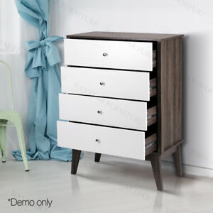 Malmo Storage Table Tallboy With 4 Drawers