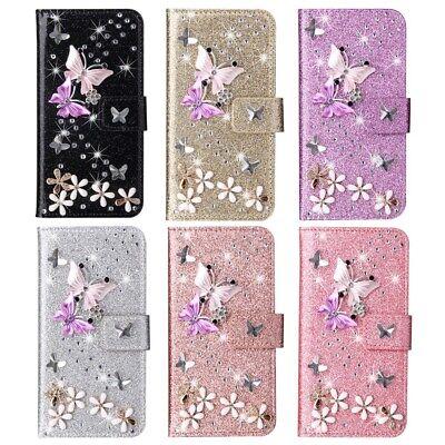 20 Glitzer (Handy Tasche Flip Glitzer Wallet Hülle Cover Case Schutz Für Samsung A40 A70 A20)