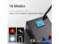 16 in 1 Oi Flash Strobe Controller Flasher Module LED Brake Light Alert Relay Indicator Turn Signals