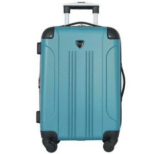 NEW Travelers Club Luggage Chicago 20 Hardside Expandable Carry-on Spinner, Teal Condtion: New, Teal