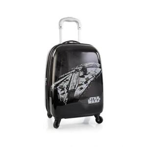 Star Wars Tween 21 Inch Hard Side Carry-on Spinner Luggage for Kids [Black]