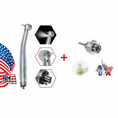 Dental E-generator Led Fiber Optic Handpiece 4hole Turbine Big Fit Kavo Burr Mp