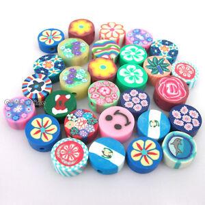 100pcs mixed pattern fimo polymer clay animals