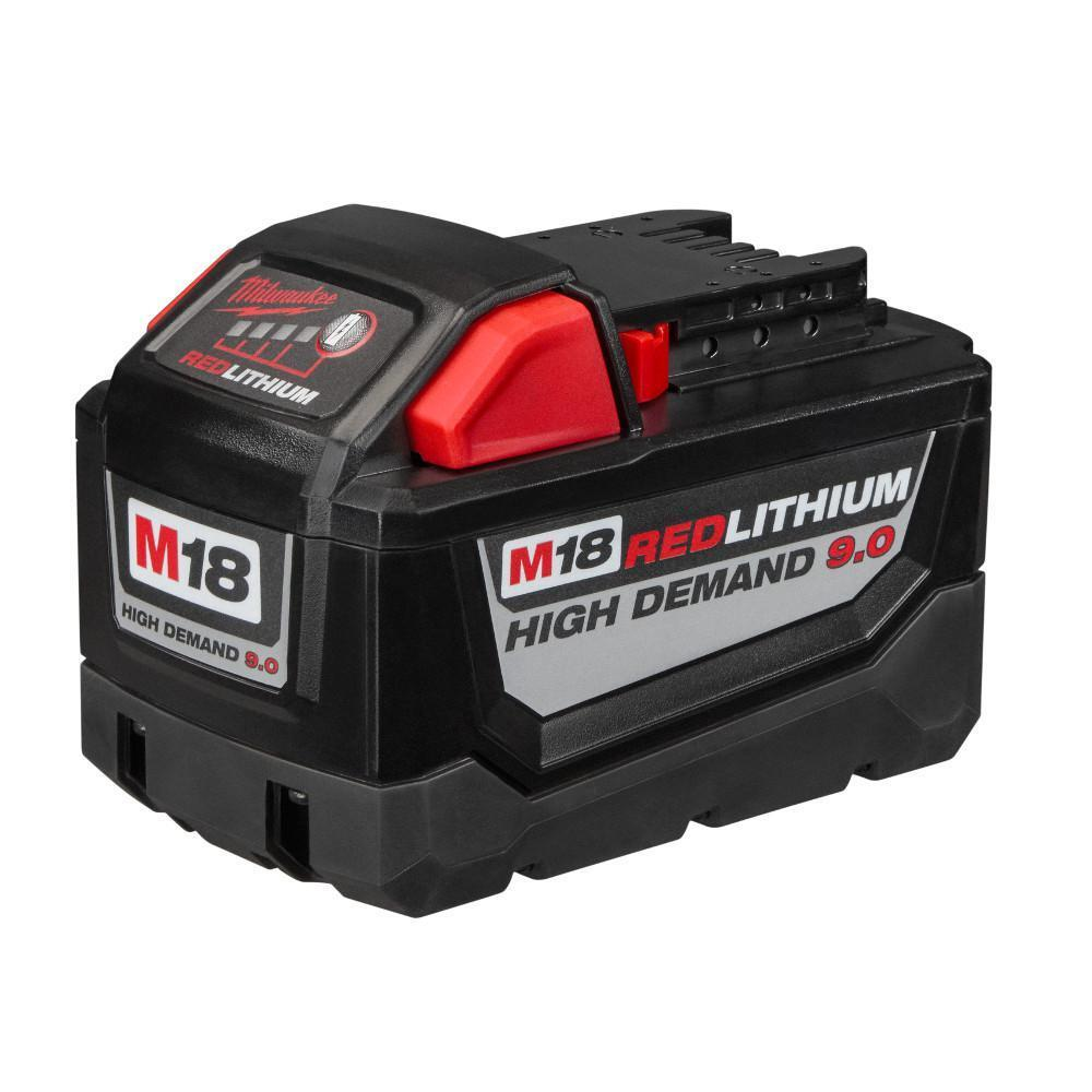 New Milwaukee 48-11-1890 M18 18V 18 Volt Red Lithium High Demand 9.0 Ah Battery 3