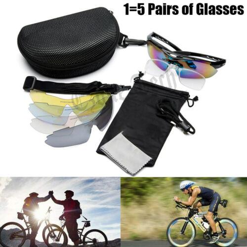 5 Lenses Cycling Polarized Sunglasses Eyewear Bike Riding Goggles Sports Glasses