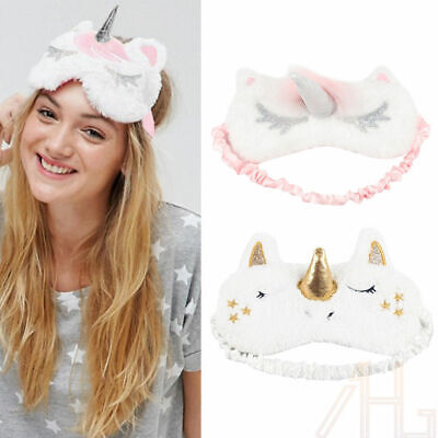Unicorn Sleep Blindfold Cute Gold Horn Plush Mask For Girl Eye Cover Fashion New