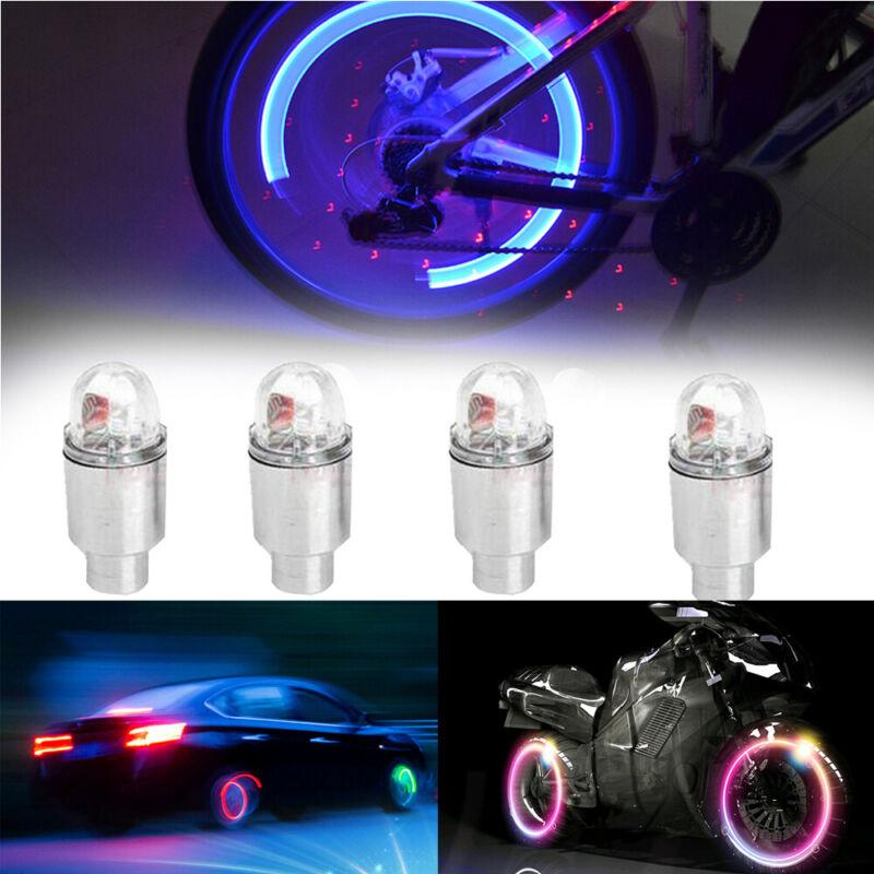 4pcs Auto Car SUV Wheel Tyre Tire Air Valve Stem LED Light Caps Cover Accessory