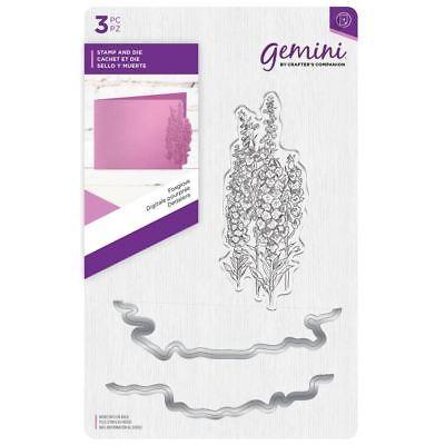 Crafter's Companion Gemini - Paper Craft Stamp & Metal Die Set - Foxglove