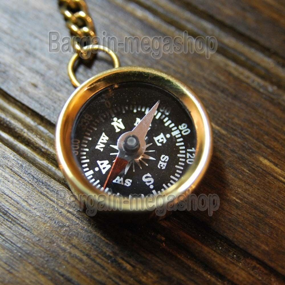 Brass Compass Keychain Marine Nautical Key Ring Bulk Lot of 50 Pcs Antique EDH S