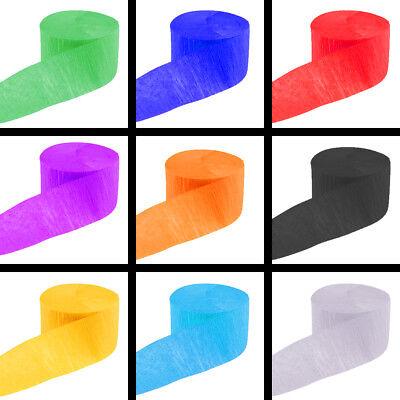 Krepp Papier Bänder 10 m x 5 cm viele Farben Mai Baum Deko Basteln