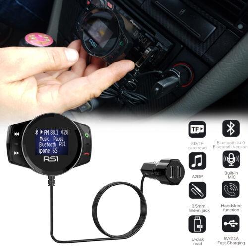Wireless Handsfree Bluetooth FM Transmitter MP3 Player 2 USB