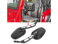 Side Mirror Kit  PAIR for Jeep CJ Wrangler YJ  Black 1976-1995 RT30002