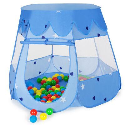 Tenda bambini bimbi con piscina di palline gioco giardino+100 palline+sacca blu usato  Italia