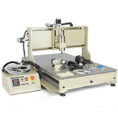 Usb 6090 4 Axis Cnc Router Engraver Engraving 2200w Vfd 3d Cut Mach3 Controller
