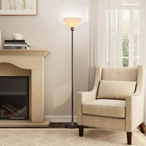 Hampton Bay 71.25 In. Bronze Torchiere Floor Lamp Durable Construction  Bright