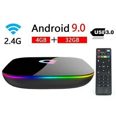 4GB+32GB Q-Box Plus Android 9.0 HD 4K 3D Smart Media Player WiFi Set Top Box
