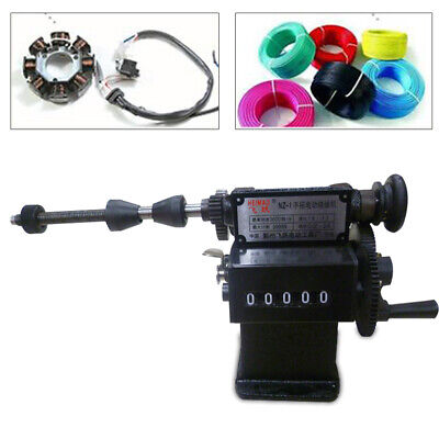 Manual Electric Coil Winder Hand Coil Winding Machine Counting Range 0-99999