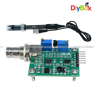 Liquid Ph0-14 Value Detect Sensor Module Ph Electrode Probe Bnc For Arduino