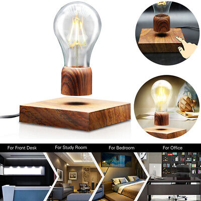 Magnetic Levitating Floating Desk LED Light Bulb Lamp+Base TouchSwitch Home Deco