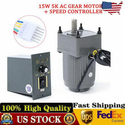 15w 5k Ac Gear Motor Electricvariable Speed Reduction Controller Adj. 110v