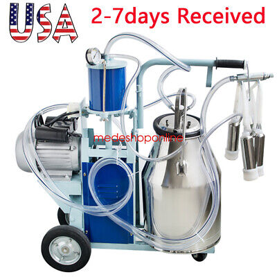 2020 Milker Electric Piston Vacuum Pump Milking Machine For Farm Cows Bucket Fda