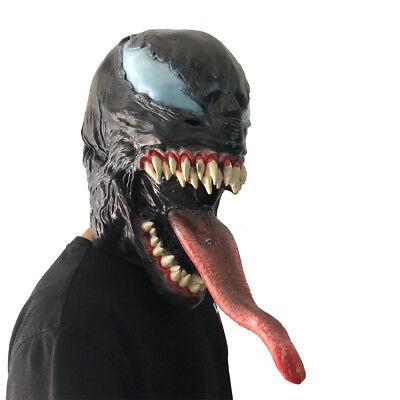 Deluxe Latex Venom Mask Cosplay Costume Adult Universe Halloween Party Prop (Deluxe Venom Costume)