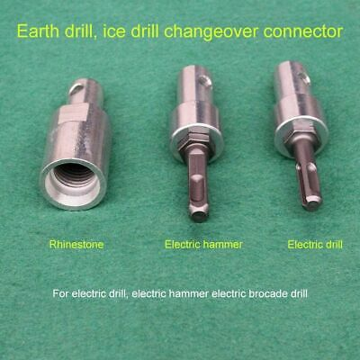 1pc Drill Bit Adapter For Gasoline Engine Electric Hammer Water Borer Drilling