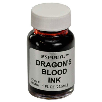 Spell Bottle (Dragon's Blood Ink by Espritu NEW 1 oz Bottle of Ritual Spell Red Ink )