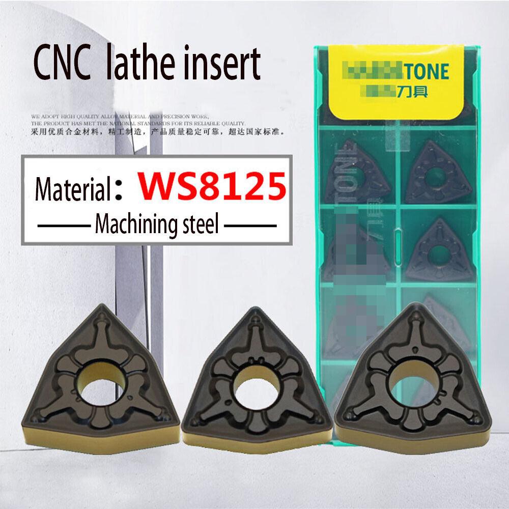 10pcs new WNMG080404-HA H01 Aluminum Processing inserts WNMG431-HA CNC Machine