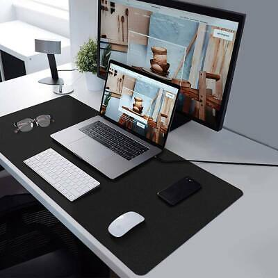 Dual-sided Desk Pad Protector With Pu Leather Laptop Desk Mat Desk Mouse Pad New