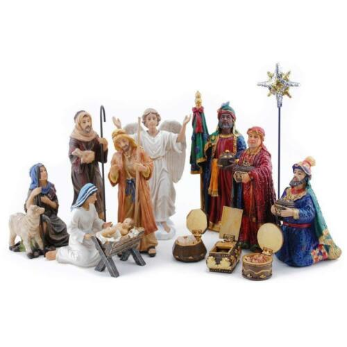 Three Kings Gifts 14-Piece The Real Life Nativity, 7-Inch