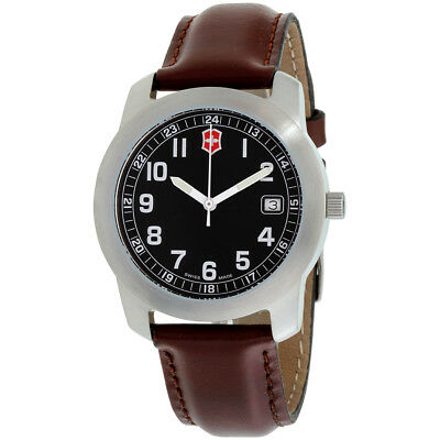 Victorinox Classic Black Dial Leather Strap Men's Watch 26012CB