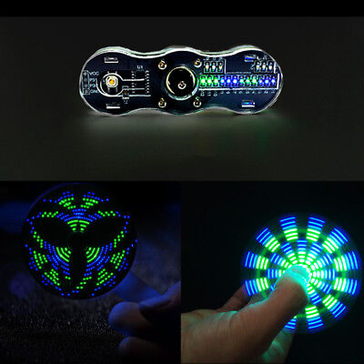 Diy Kit Blue Green Rotating Led Electronic Kit 24 Kinds Cool Pattern Toy Gift