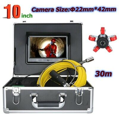 30m Pipe Inspection Camera System Sewer Surveys 10 Lcd Video Endoscope Snake