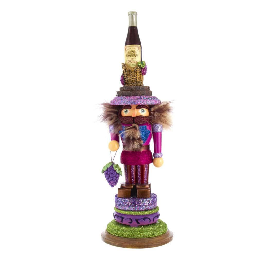"[Kurt Adler Hollywood Nutcracker - Wine King Christmas Nutcracker 17.5"" HA0529 </Title]"