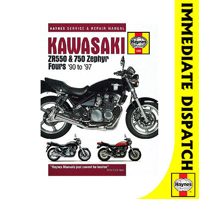[3382] Kawasaki ZR550 ZR750 Zephyr Fours 1990-97 Haynes Workshop Manual