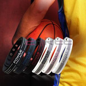 New-Power-Titanium-Sports-2000-Ionics-Wristband-Bracelet-Balance-6-Color-U-Pick