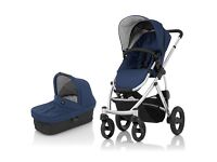 Britax Pram Stroller Brand New Boxed from the babystore Warrington Navy Blue